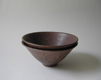 Pair of Chestnut Bowls