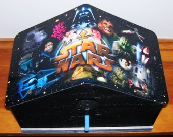 Star Wars License Plate Birdhouse/Mothers Day, Fathers Day, Anniversary, Birthday, Christmas, Garden, Collectors Item