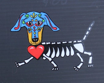 Day of the Dead Dachshund #127