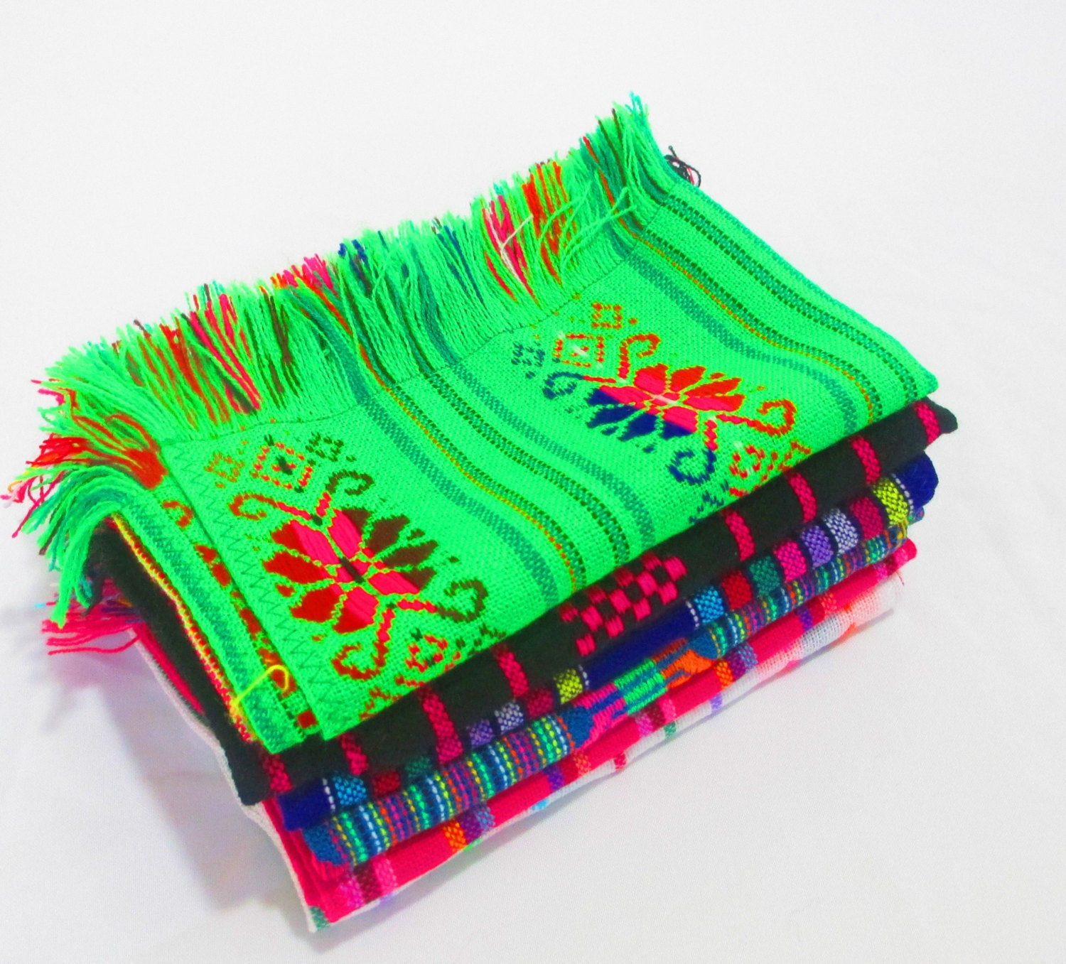 Mexican napkins bulk set of assorted colors fiesta