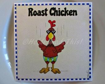 Funny Food Card - Roast Chicken - Plat123