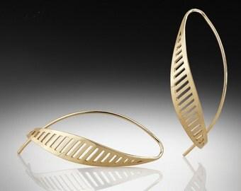Gold dangle earrings, Gold drop earrings, 14k gold earrings, 14k solid gold, Earrings gold, 14k solid gold earrings, Gold jewelry, 14k gold.