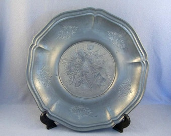 Vintage Pewter Plate // Pewter Charger // Tre Effe // Originale // Angel Mark // Other Marks // And Stamp // 1900-1910