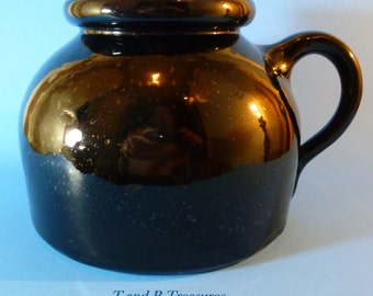 Antique Black Cornelison Bybee Pottery Made In Kentucky Bean Pot