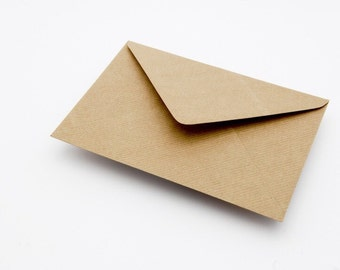 25 C5 Brown kraft recycled ribbed greeting card envelopes. Free UK Delivery