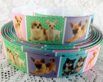 Chihuahua ribbon 7/8 Chihuahua Grosgrain ribbon Chi ribbon