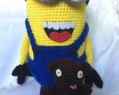 Special ordered Crochet minion for Cassie