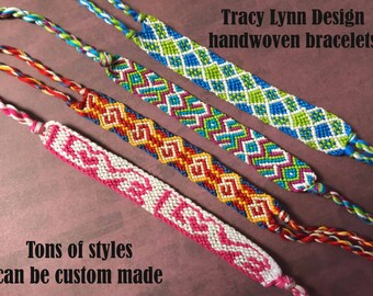 Friendship Bracelet - Woven Bracelet - Macrame Bracelet - Adjustable Bracelets - Custom Made - Stackable Bracelets - Handmade Anklet - #34