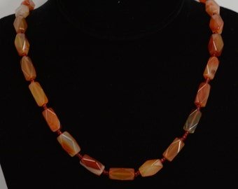 Red Aventurine Beaded Necklace