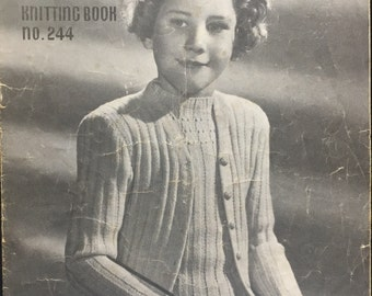 Vintage Patons Knitting Book 1950's Book No. 244