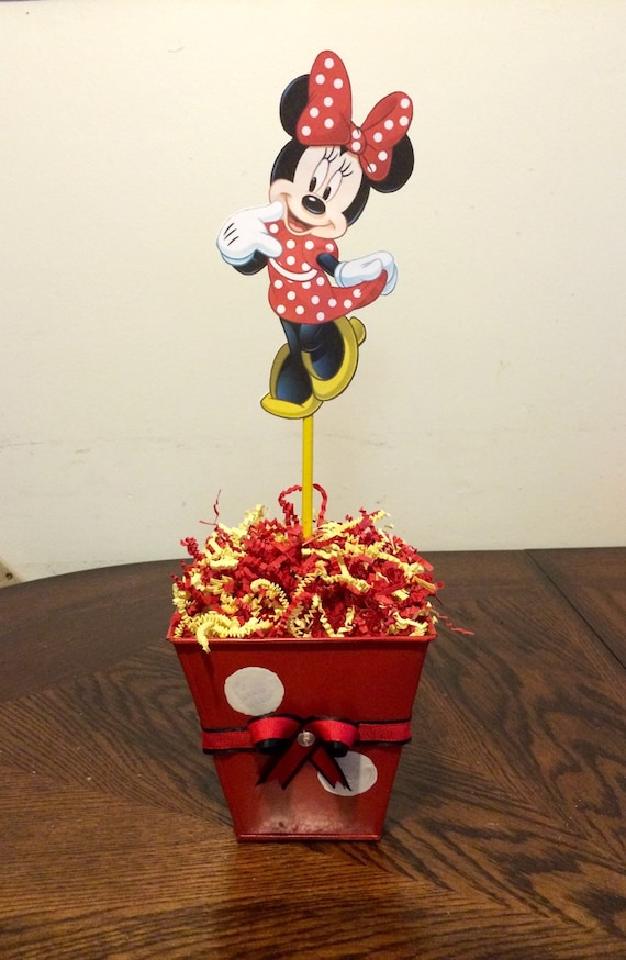 Items similar to minnie mouse in red centerpiece on etsy