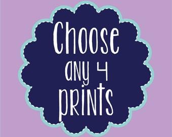 Nursery Wall Decor Home Decor Prints Mix and Match Choose Your Size Any four Prints Nursery Art Wall Art Kids Room Decor Digital Art Prints