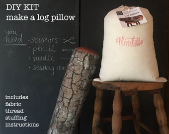 DIY sewing kit : Log pillow - make your own log pillow