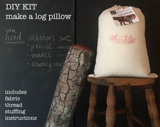 DIY sewing kit : Log pillow - make your own log pillow