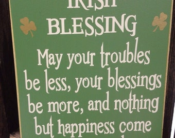 Irish Blessing-St. Patrick's day sign