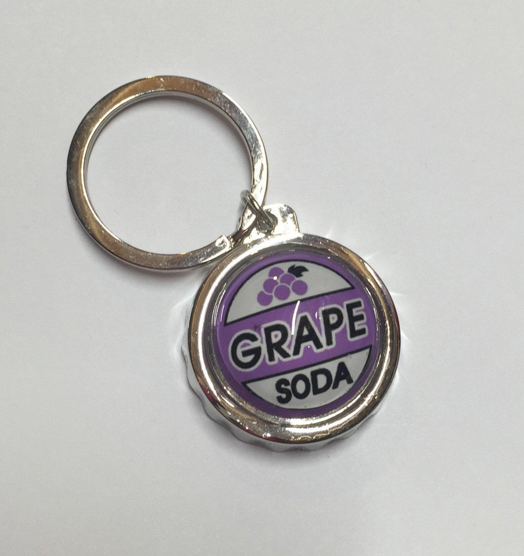 Grape Soda Bottle Top/Cap Bottle Opener Keychain. By MyHoard
