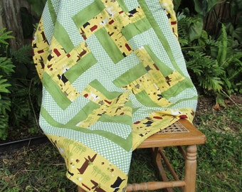 Dachshund Quilt ~ Lap or Baby
