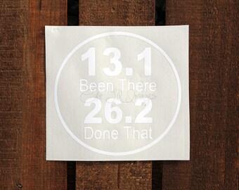 Marathon Runner Decal; 26.2 Vinyl Decal