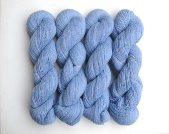 DESTASH 2570 Yards Heavy Lace Weight Wool Blend Recycled Yarn in Light Blue