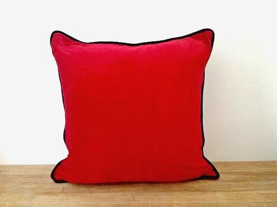 Red Velvet Throw Pillow Cover 20 By 20 Velvet