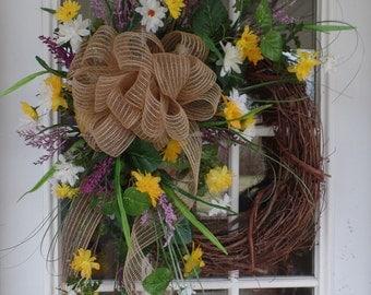 Burlap Weed Wreath