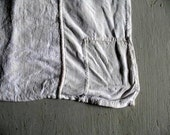 Reserved for Andrea - Amazing antique French linen cloth mongramed 'P'  patched with different fabrics 87cm x 60cm