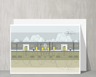 Architectural Blank Card - Brockwell Lido (Herne Hill)