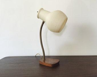 Mid Century Goose Neck Lamp . Atomic Table Lamp . Retro Lighting