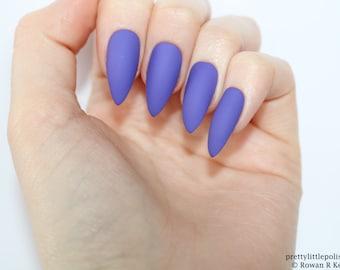 Stiletto nails, Matte purple stiletto nails, Fake nails, Press on nails, False nails, Stiletto false nails, Press on stiletto nails