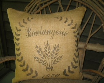 French Burlap Grain Sack inspired Pillow Cover