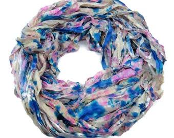 New! Sari Silk Ribbon, 100g , Splash Collection