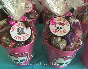 Monster High Favor Tags - Set of 12