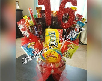 "SWEET Sixteen ""16"" Candy Bouquet"