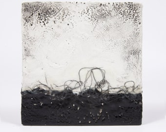 Original Black and White Abstract Landscape Painting