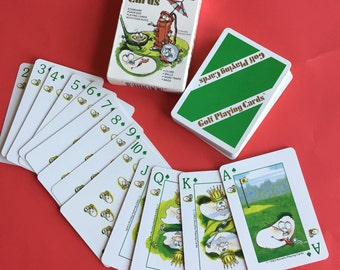 Vintage Novelty Golf Playing Cards