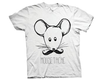 Mousetache T-shirt // Mouse Tshirt // Vegan T-shirt // eco friendly t-shirt // funny t-shirt // mouse illustration // digital print tee