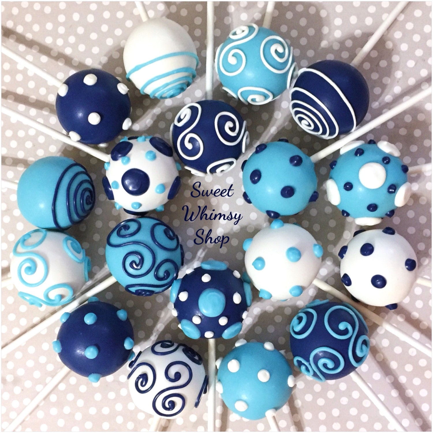 Navy Blue Cake Pops