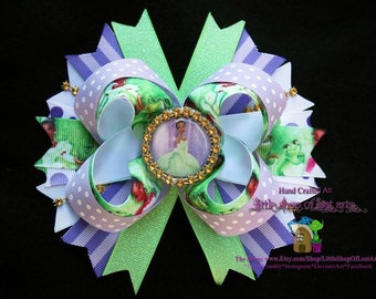 Princess Tiana inspired from disney's The princess and the frog large boutique bow