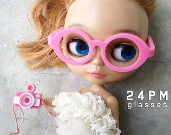 Pink set glasses+lomo camera-for blythe