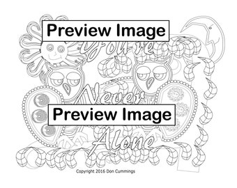 Be Yourself Positive Affirmation Coloring Page Adult Coloring