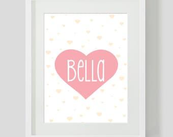 Love Heart Name Art