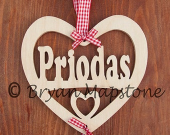 Priodas. Wedding anniversary Heart