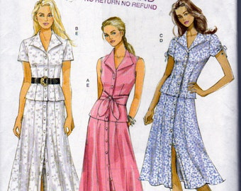 Butterick 5025, Misses Petite Top and Button Down Long Skirt Sewing Pattern,  Plus Sizes 16 to 22, Uncut