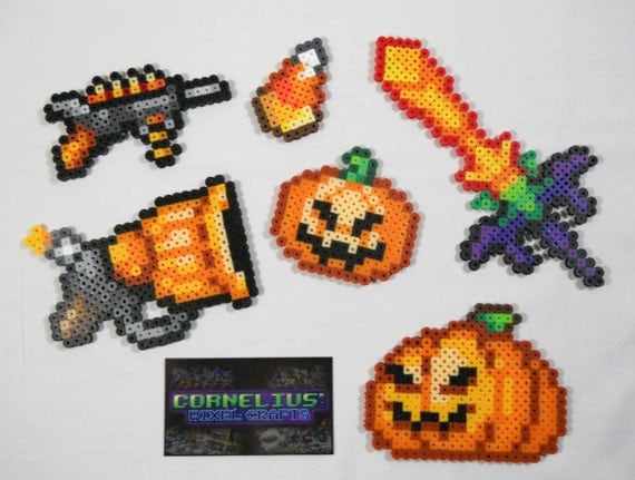 Terraria Halloween-themed Items keychains optional