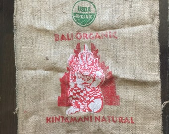 Coffee Bean Burlap Bag Sack