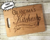 Grandma's Kitchen - LOVE Served Daily-  Personalized Cutting Board * YaYa * MiMi * Granny * MawMaw *  NaNa