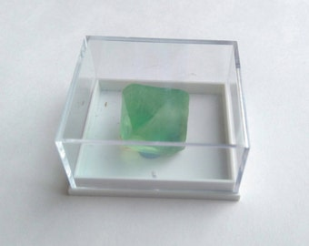 SALE* Boxed Natural Green Fluorite Raw Octohedron Crystals, Specimen