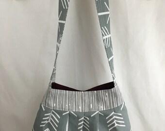 Pleated Arrows Purse, Handbag - Choose Color