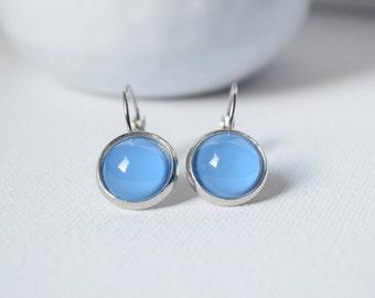 Earrings cabochons Blue - 11