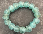 Aqua Sea Glass Bracelet